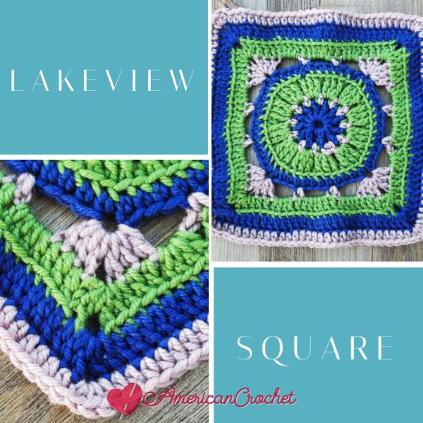 Lakeview Square | Crochet Pattern | American Crochet @americancrochet.com #crochetpattern