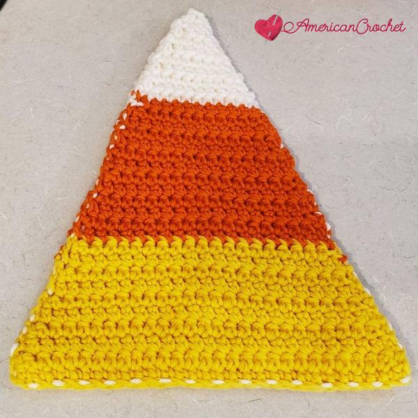Fall Candy Trivet | Crochet Pattern | American Crochet @americancrochet.com