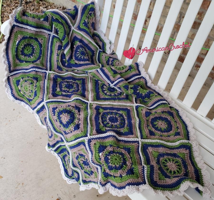 Riverwood Squares Blanket