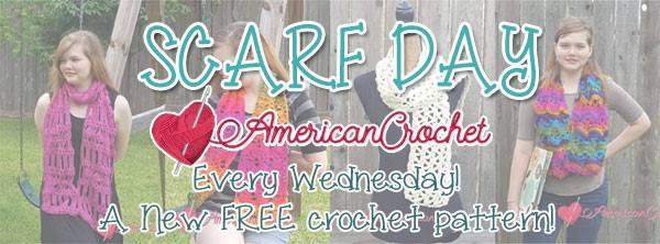Scarf Day   American Crochet @americancrochet.com #scarfday