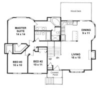 Plan #1243 - 2 bedroom Tri-level home