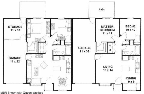 3 Bedroom Floor Plan Apartment 3 Bedroom House Blueprint