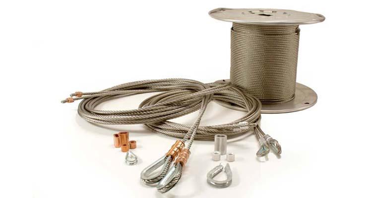 overhead garage door cable assemblies cable components bulk garage door cables