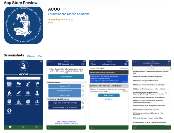 ACOG Screenshot app