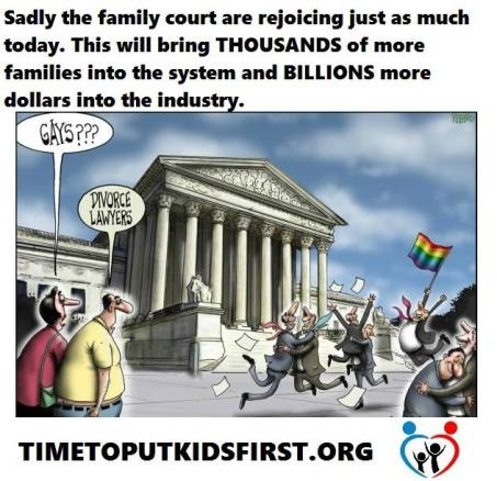 More BILLIONS into Family Law after approving same-sex marriages - 2015