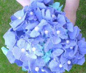 Felt Hydrangea Bridal Bouquet Tutorial  American Felt