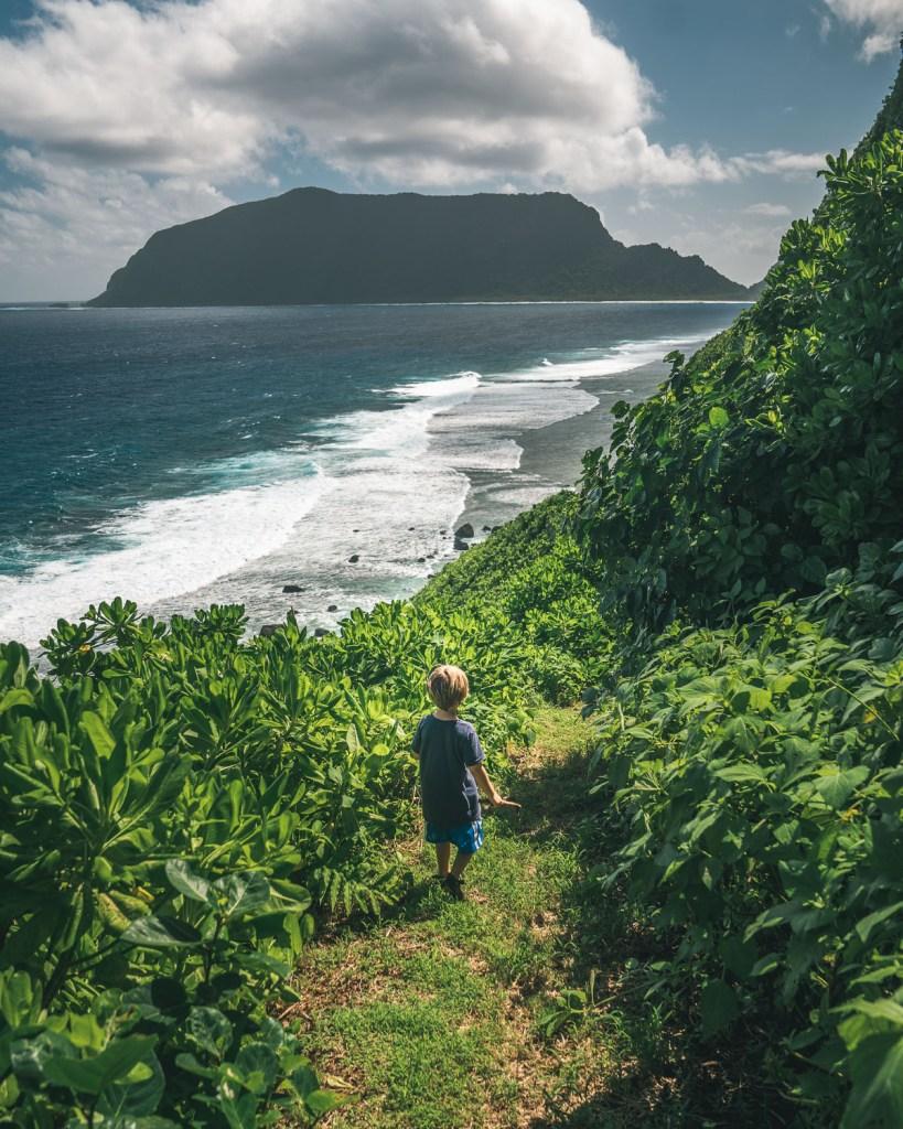 a kid visiting american samoa
