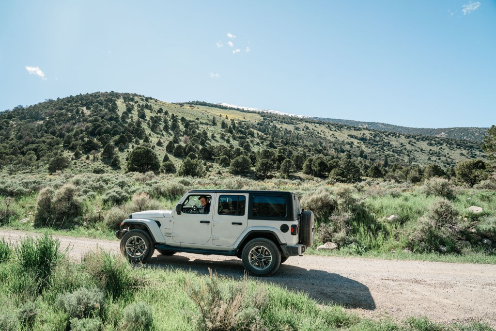 white jeep in nevada