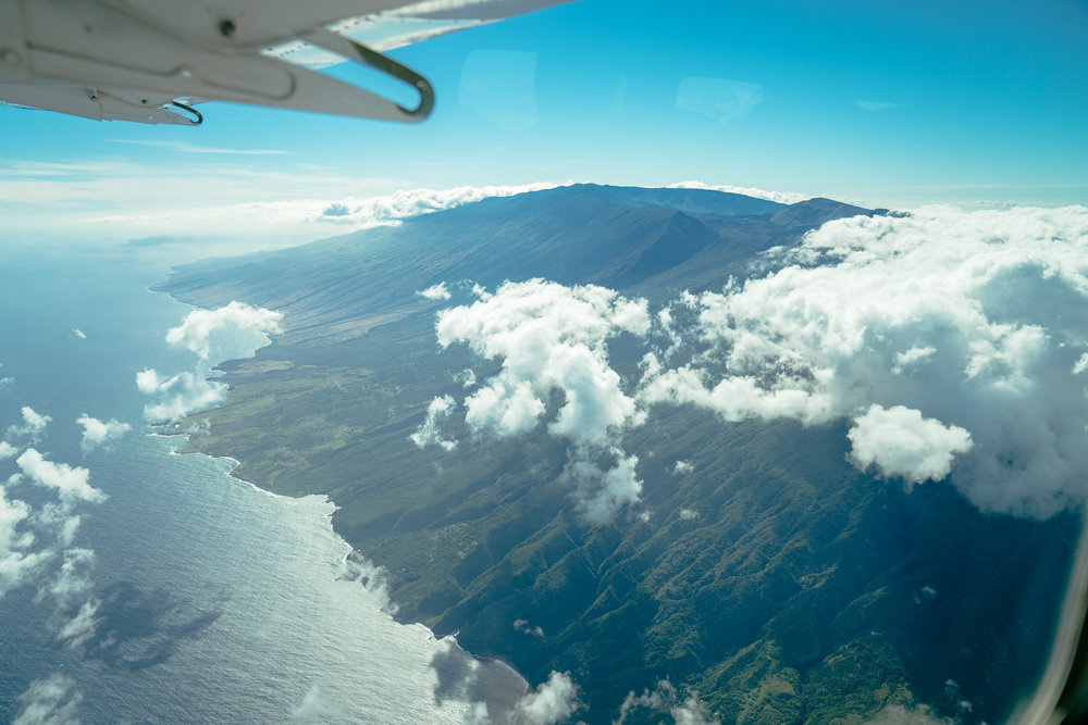 We took an itty bitty plane from Maui to the big island and the views were spectacular!
