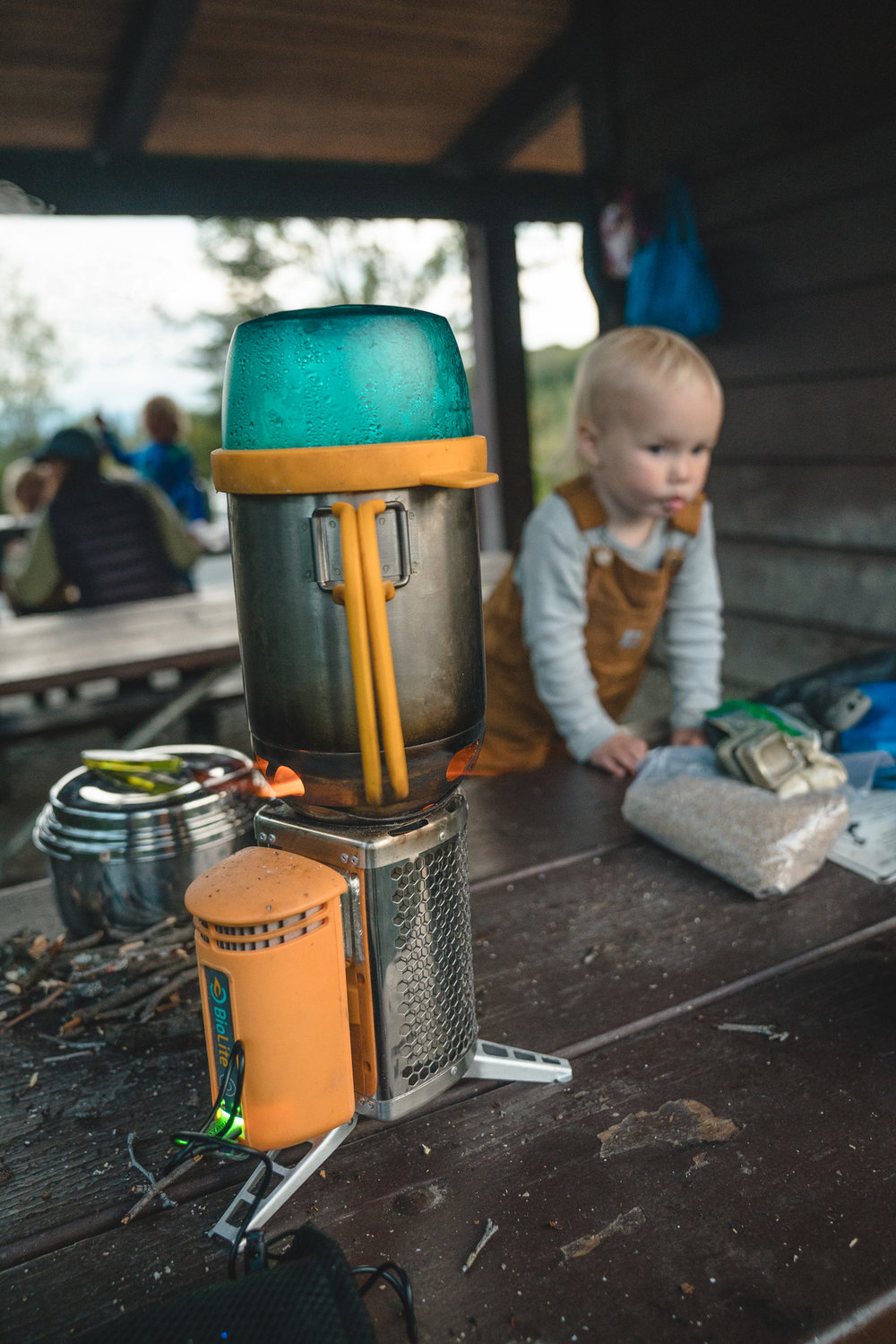 This BioLite stove is just about our favorite thing ever. Burns twigs so you don