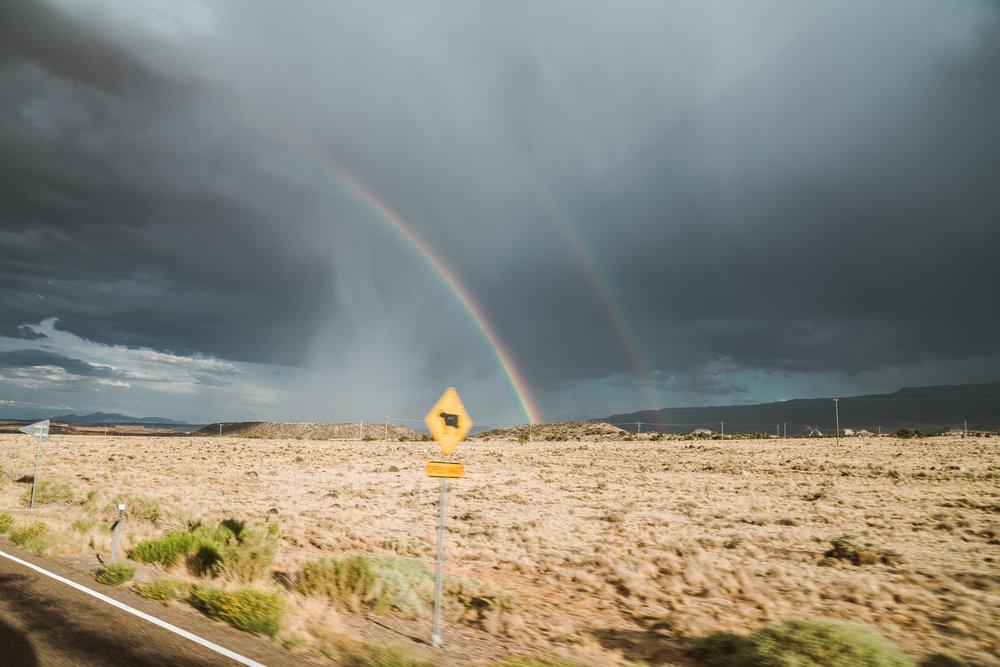 Double rainbow as we left the park.