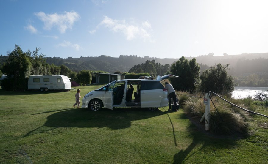 Our van for three weeks in New Zealand.