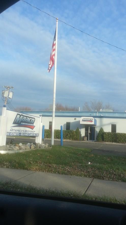 American Flag at Macco Auto Body