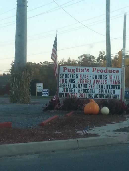 American Flag Flying at Puglia's Produce