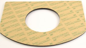 3M pressure-sensitive adhesive laminated to foam, custom manufactured and die cut by American Flexible Products.
