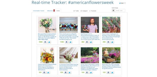 Just one quick screen grab of the excellent reach #americanflowersweek has enjoyed!
