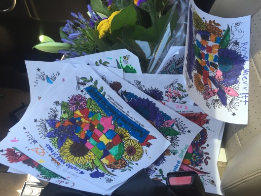 These AFW floral maps reveal the talents of first-grade artists, including Kaden Cronquist.