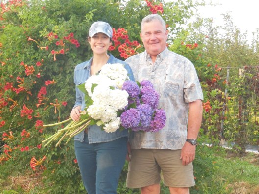 Kendra (daughter) and Deke (father) are a flower farming duo based in Hillsboro, Oregon