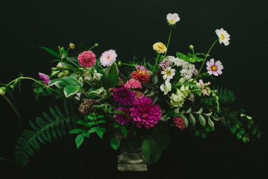 A stunning arrangement, created at the party (c) Angela Zion