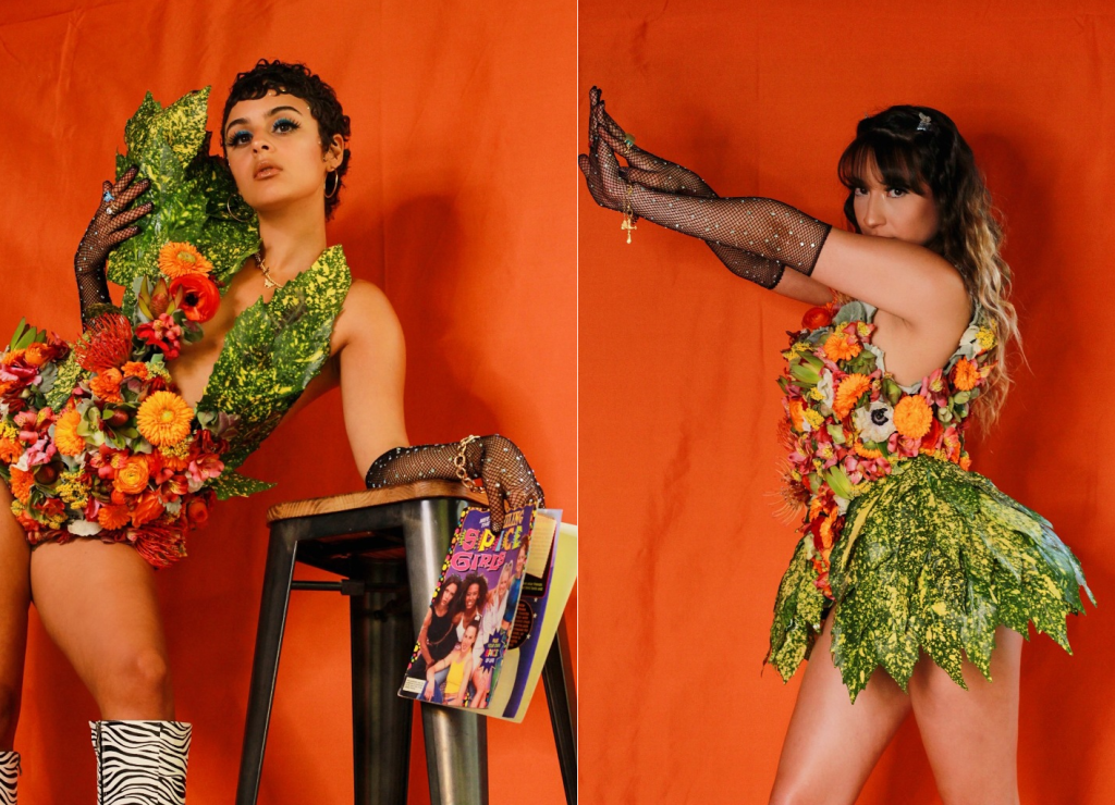 Fetching social media botanical couture