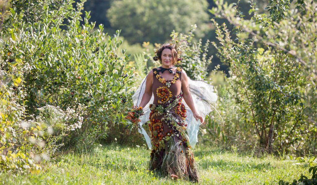 Hilltop Community Flower Farm botanical couture