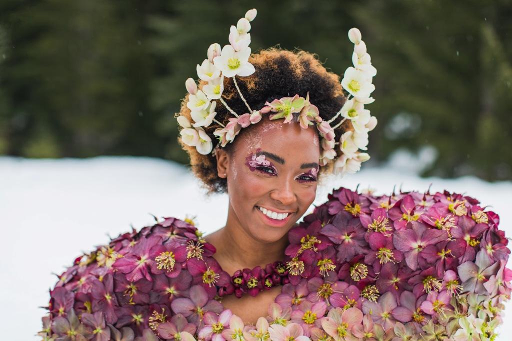 Hellebore dress by Folk Art Flowers