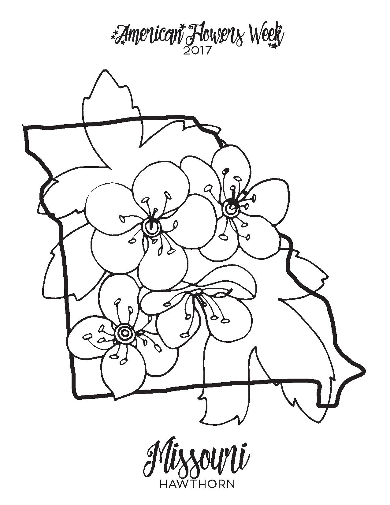 Hawthorne Flower Coloring Page