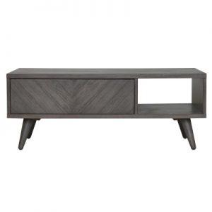 piero chevron coffee table weathered gray