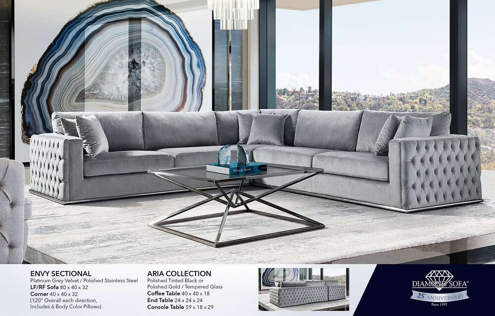envy sectional sofa tufted