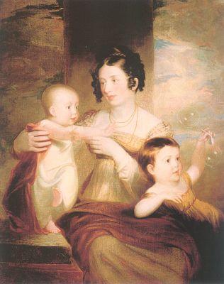 Lucretia Morse and her children