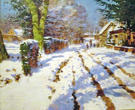 Town Street In Winter
