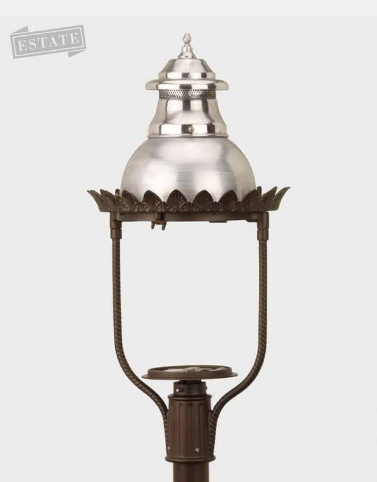 Elegant Outdoor Gas Lighting Fixture Lamp Estate Restoration