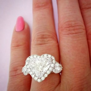 Heart cut diamond engagement ring with halo from Steve Padis Jewelry