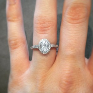 A stunning engagement ring from Hufford's Jewelry.