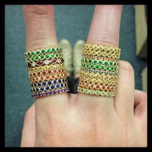 Rings from Erica Courtney Jewelry
