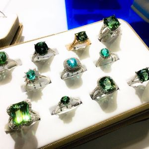 Tourmaline rings from Suna Bros.