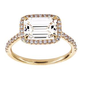 Emerald Cut East West Two by London
