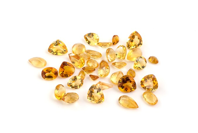 Group of Citrine Gemstones