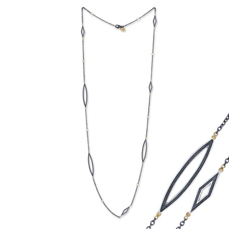 Lika Behar Collection oxidized silver chain