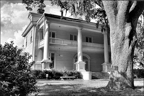 Scary old plantation house, home of slave owners.