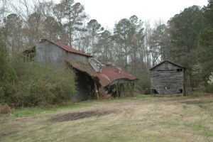 Old Train Buildings and Trestle (Smoaks, SC)