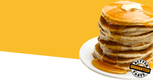 Pancakes made from Steam Shell restaurant griddle