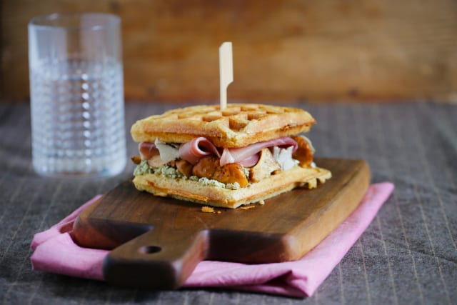 Griddle Recipe for Monte Cristo Waffle Sandwich