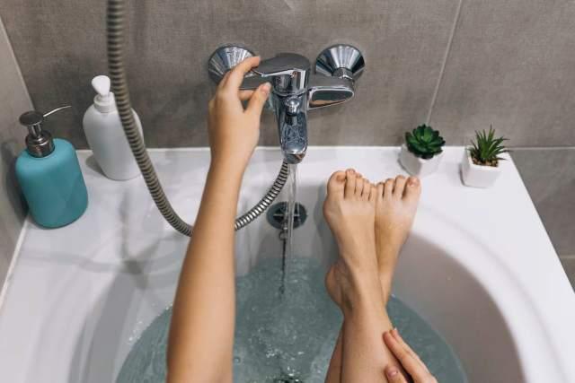 bañarte agua fría