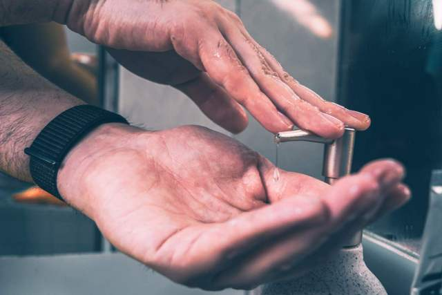 no lavarte las manos