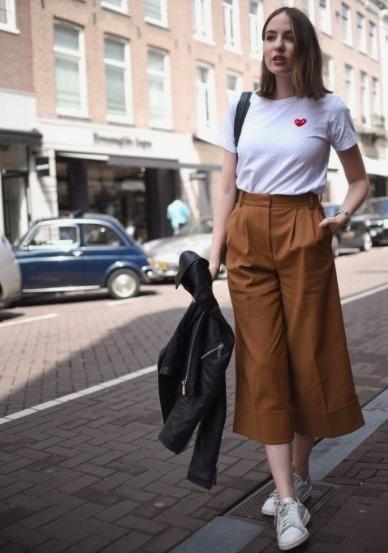 Usar pantalones estilo culotte es un truco que tienes que aplicar para reducir medidas