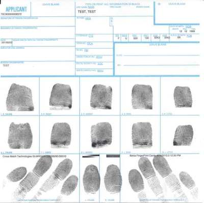 FBI Ink fingerprint
