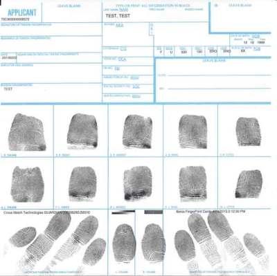 FBI Ink fingerprint