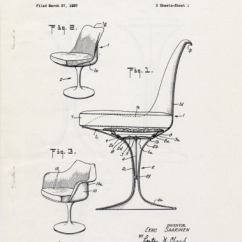 Chair Design Patent Covers Christening Reinventing The A Pencil Sketch In Three Dimensions 1957 Drawing For Eero Saarinen Us And Trademark Office