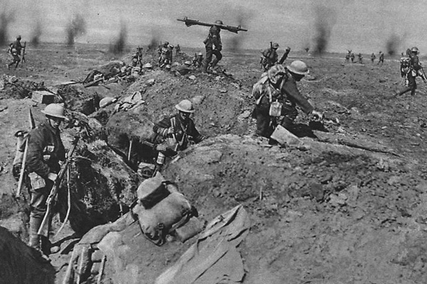 Image result for image of trench warfare